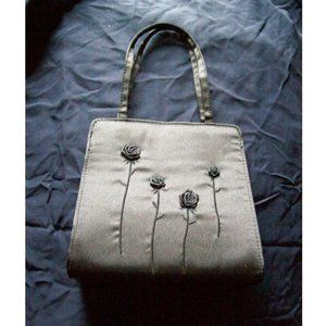 Black Rose Embroidered Convertible Bag